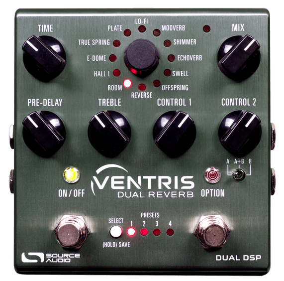 Source Audio Ventris Dual Reverb Pedal (Brushed Chrome)