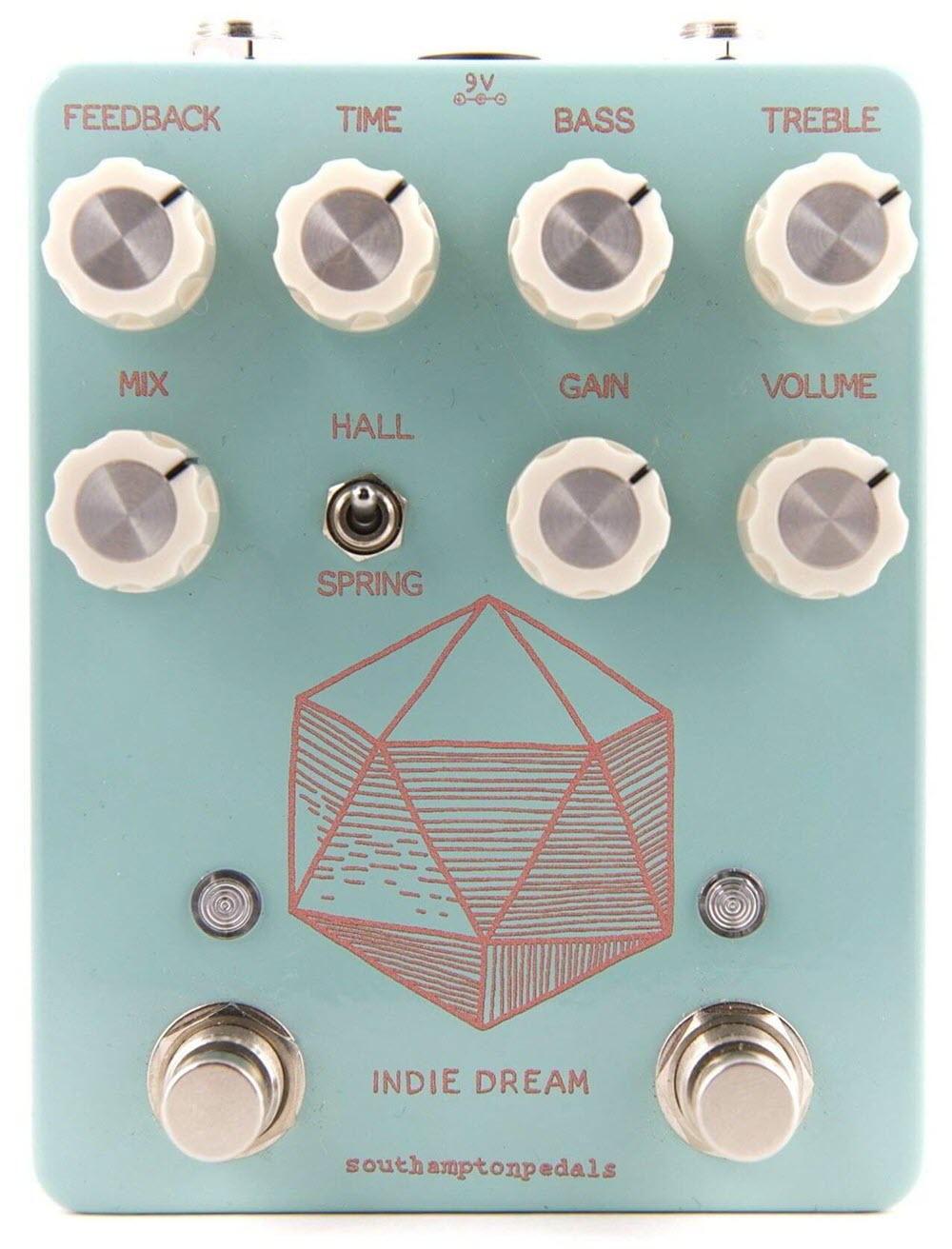 Southampton Indie Dream Overdrive Delay Reverb Pedal (Blue)