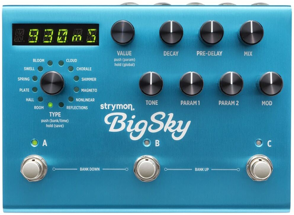 Strymon Big Sky Multi Dimensional Reverb Pedal (Blue)