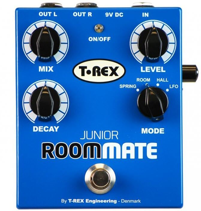 T-Rex Room-Mate Junior Reverb Pedal (Blue)
