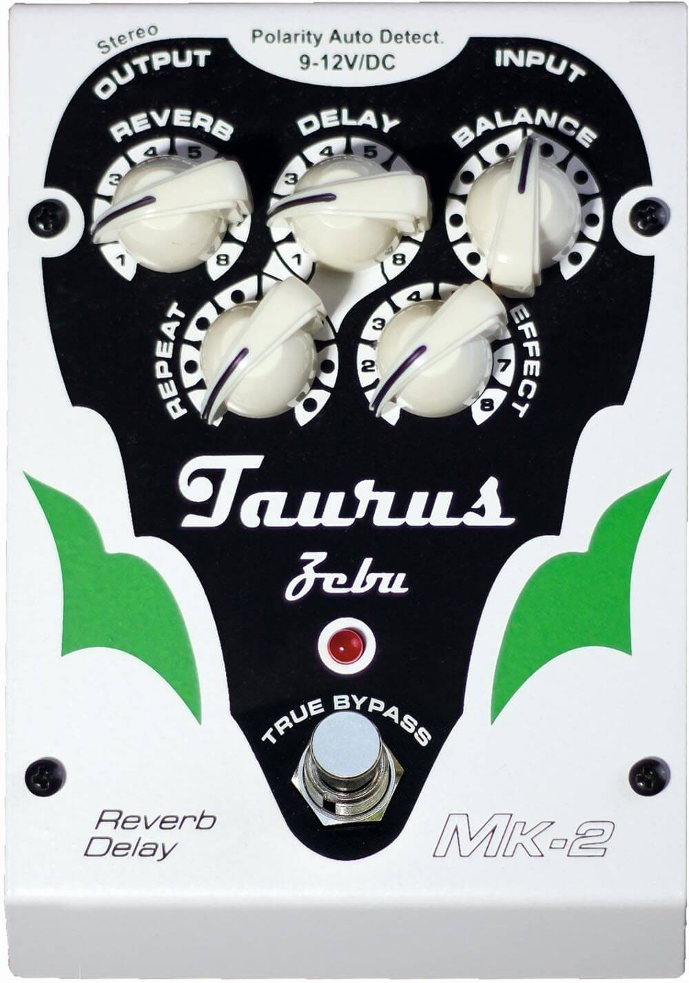 Taurus Amplification Zebu MK-2 Reverb Delay Pedal (White)
