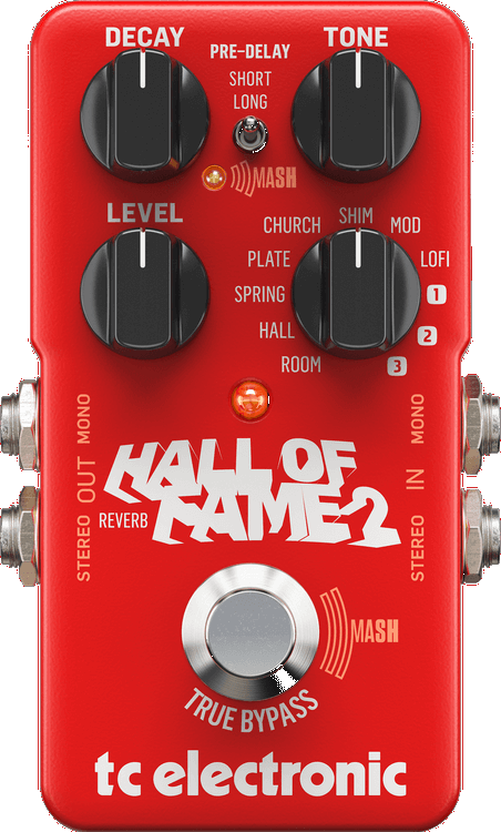 TC Electronic Hall Of Fame 2 Reverb Pedal (Red)