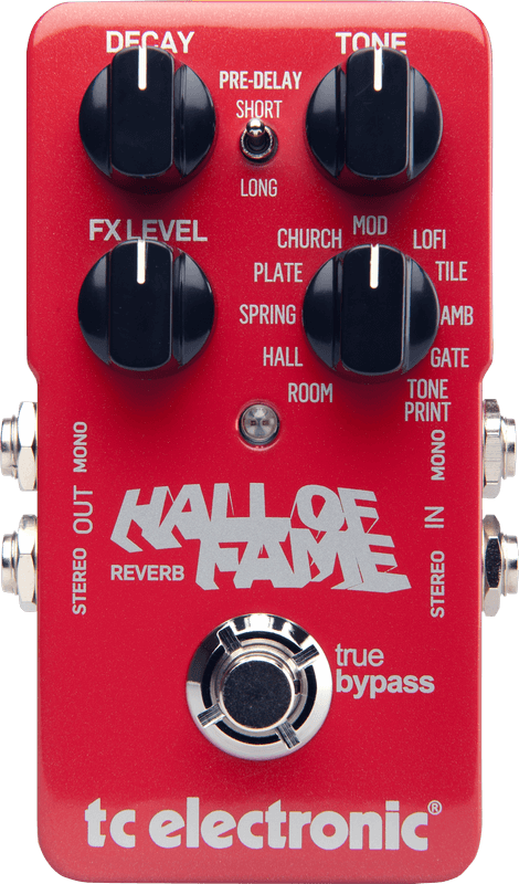 TC Electronic Hall Of Fame Reverb Pedal (Red)