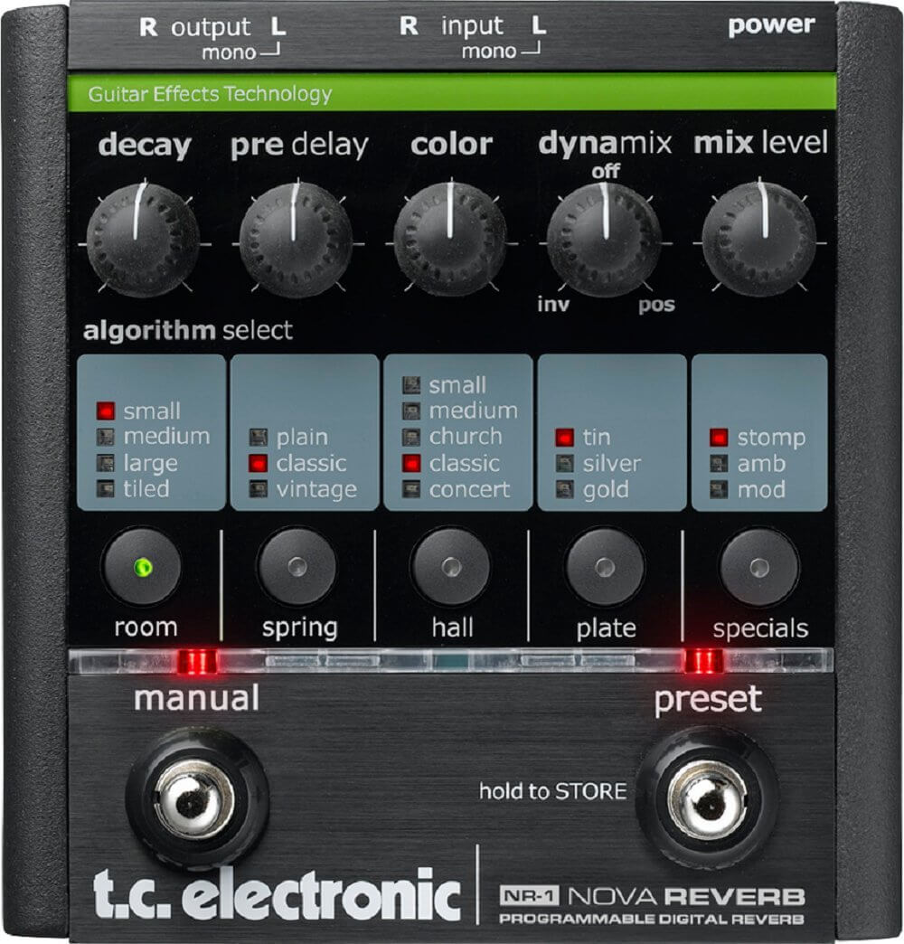 TC Electronic NR-1 Nova Reverb Programmable Digital Reverb Pedal