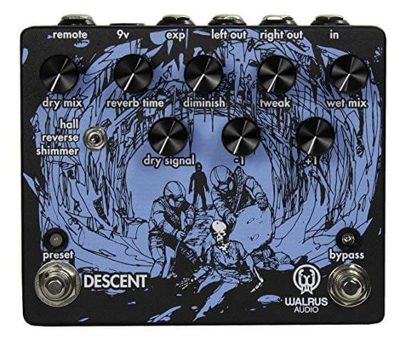 Walrus Audio Descent Reverb Pedal (Black/Purple)