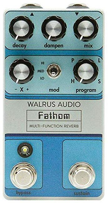 Walrus Audio Fathom Multi-Function Reverb Pedal (Blue)